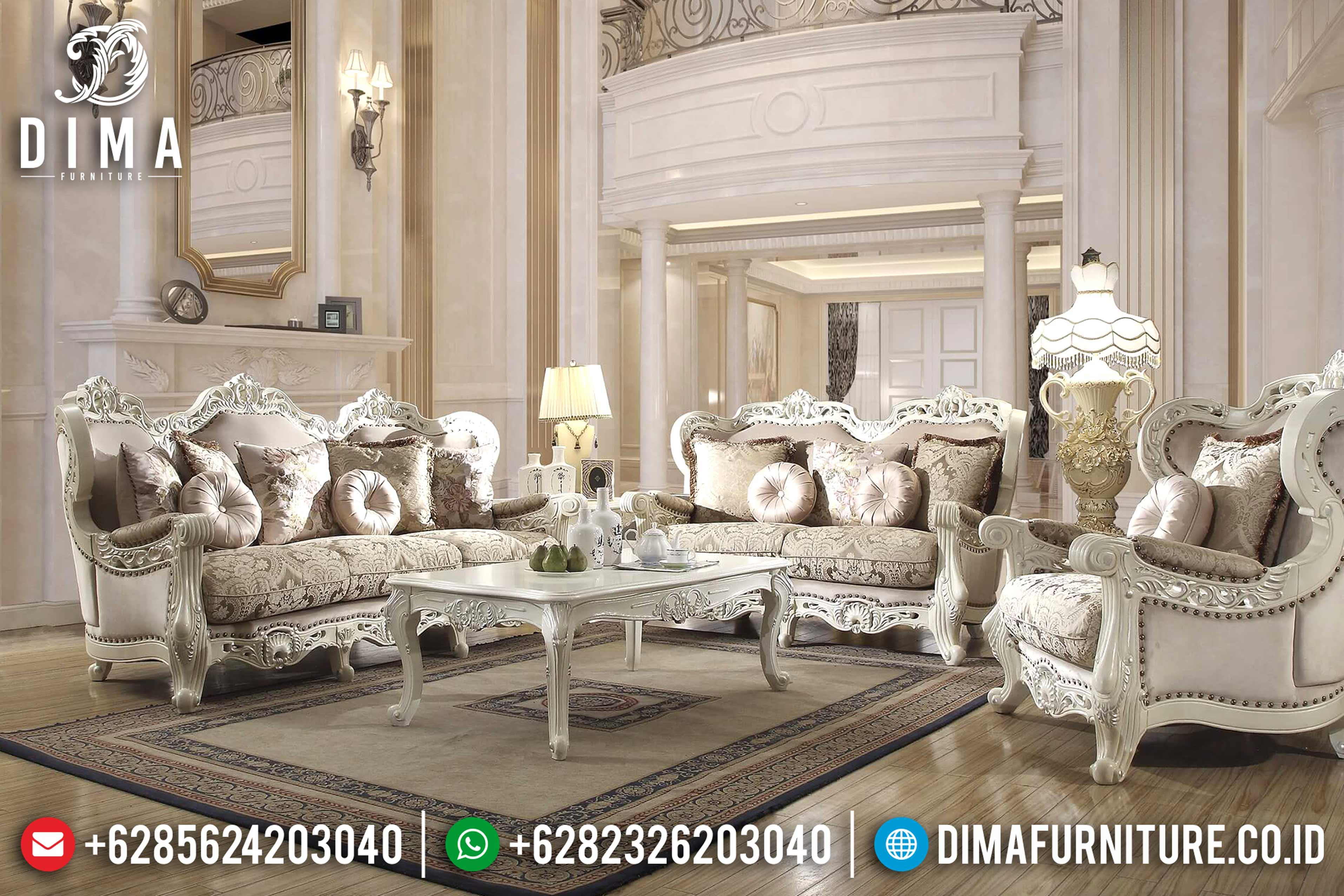 Terbaru Set Sofa Tamu Mewah, Kursi Sofa Tamu Jepara, Sofa Duco Ukir DF-0796