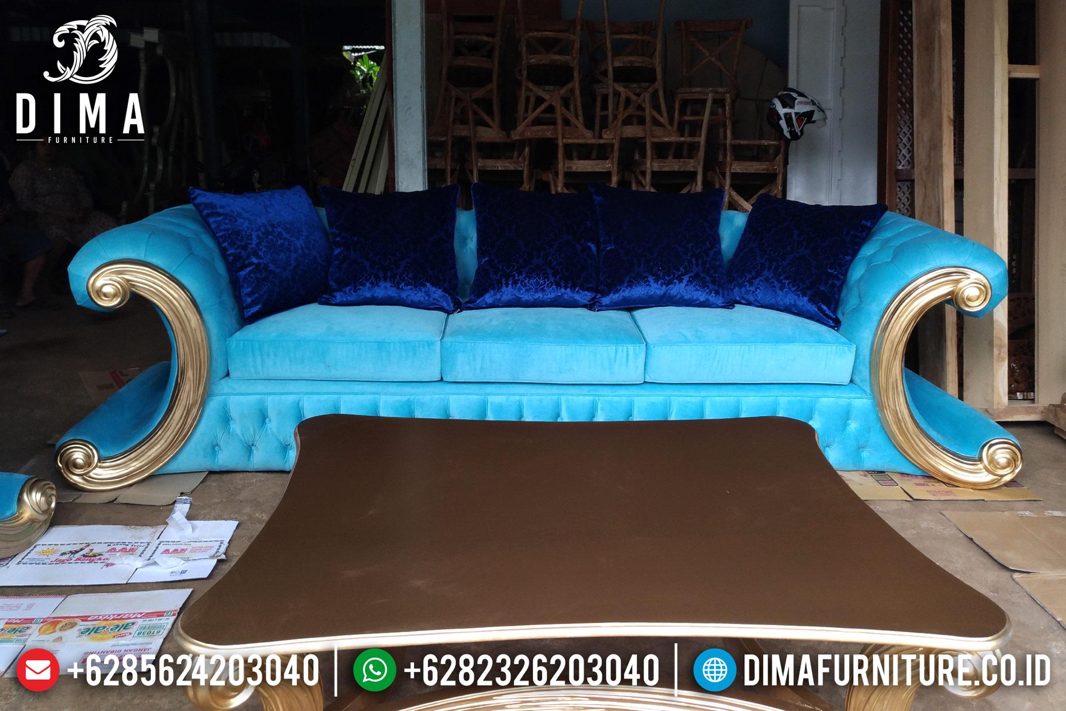 Beli Model Set Kursi Sofa Tamu Mewah Jepara Terbaru Gold Jackson DF-0862 Gambar 1