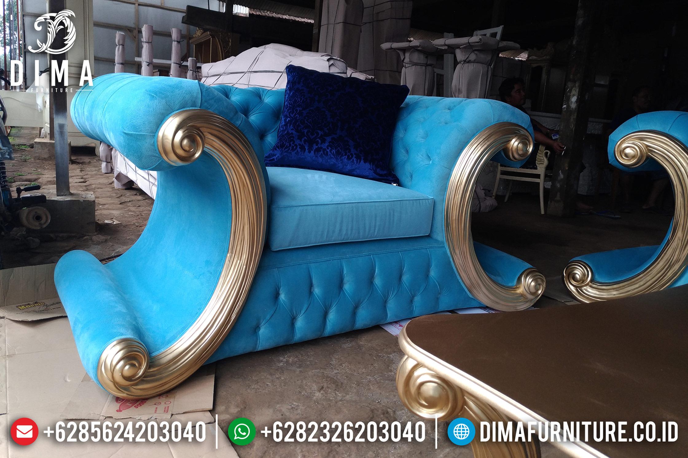 Beli Model Set Kursi Sofa Tamu Mewah Jepara Terbaru Gold Jackson DF-0862 Gambar 2