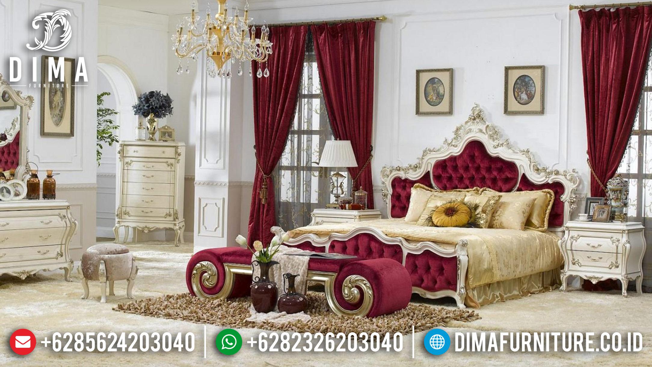 Jual Model 1 Set Tempat Tidur Mewah Jepara Victorian Ukir Klasik Duco DF-0865
