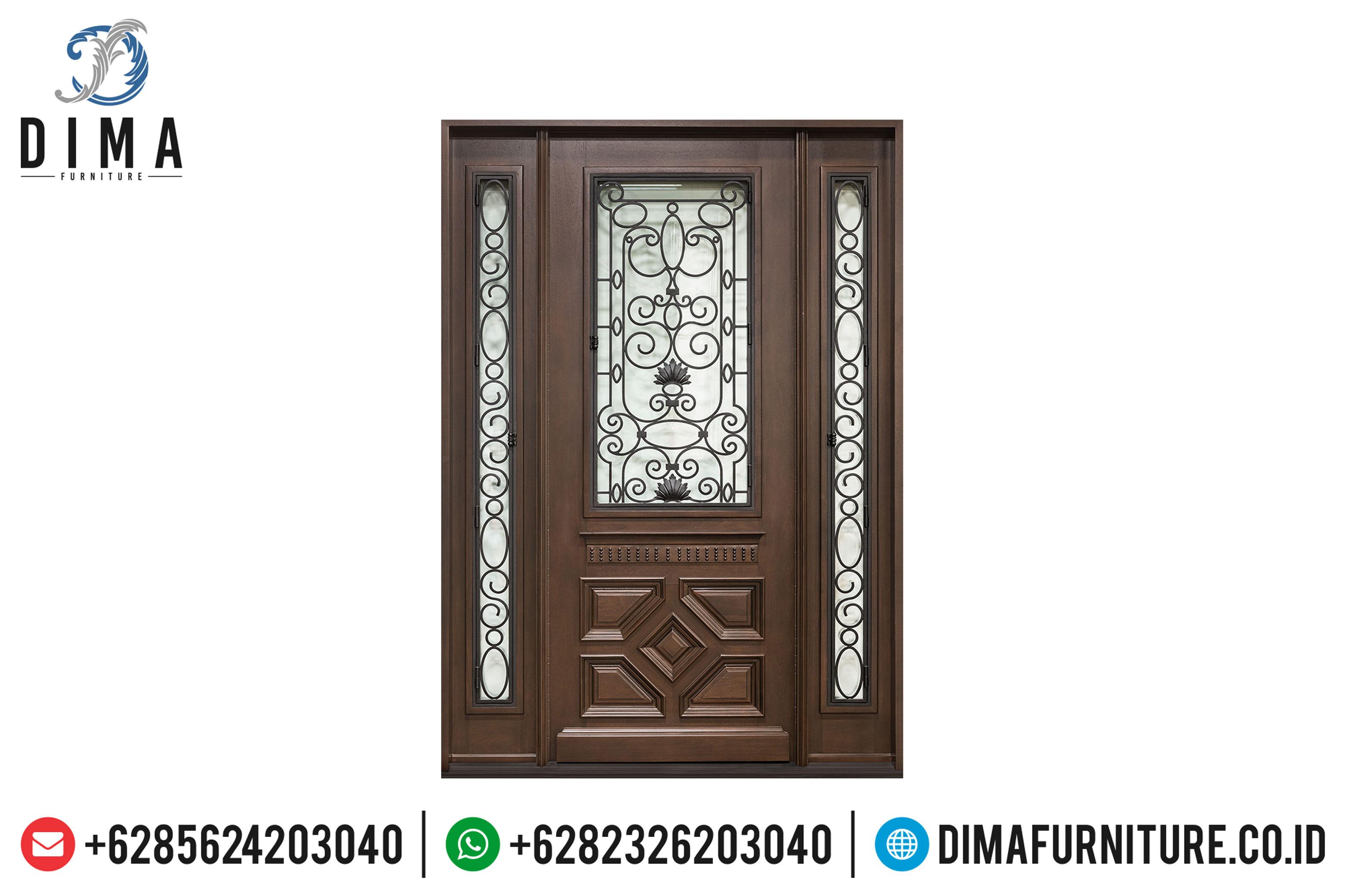Jual Pintu Rumah Jati Jepara, Pintu Rumah Utama, Pintu Rumah Mewah Jepara DF-0825