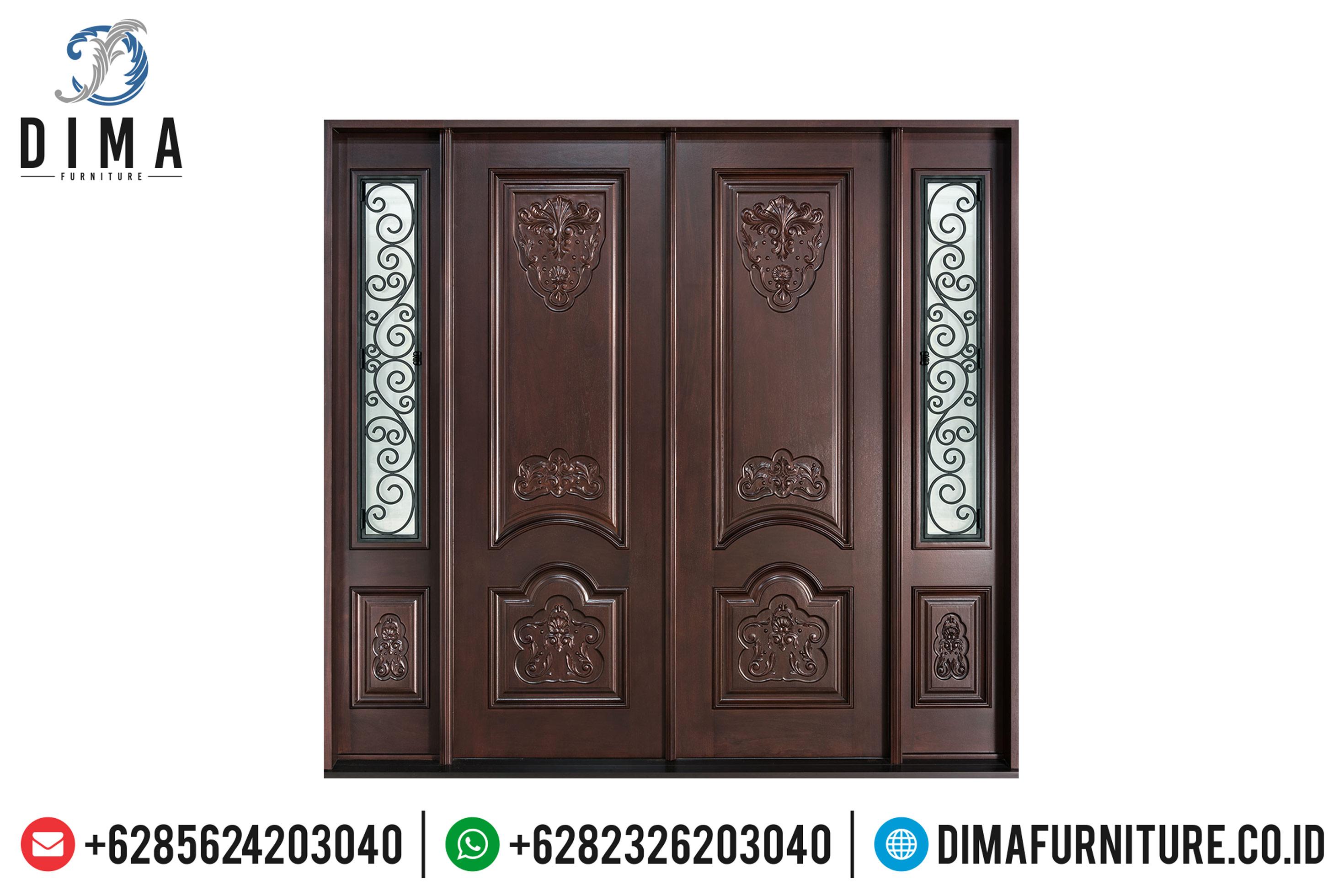 Jual Pintu Rumah Mewah, Pintu Jati Jepara Terbaru, Kusen Pintu Jati Jepara DF-0826