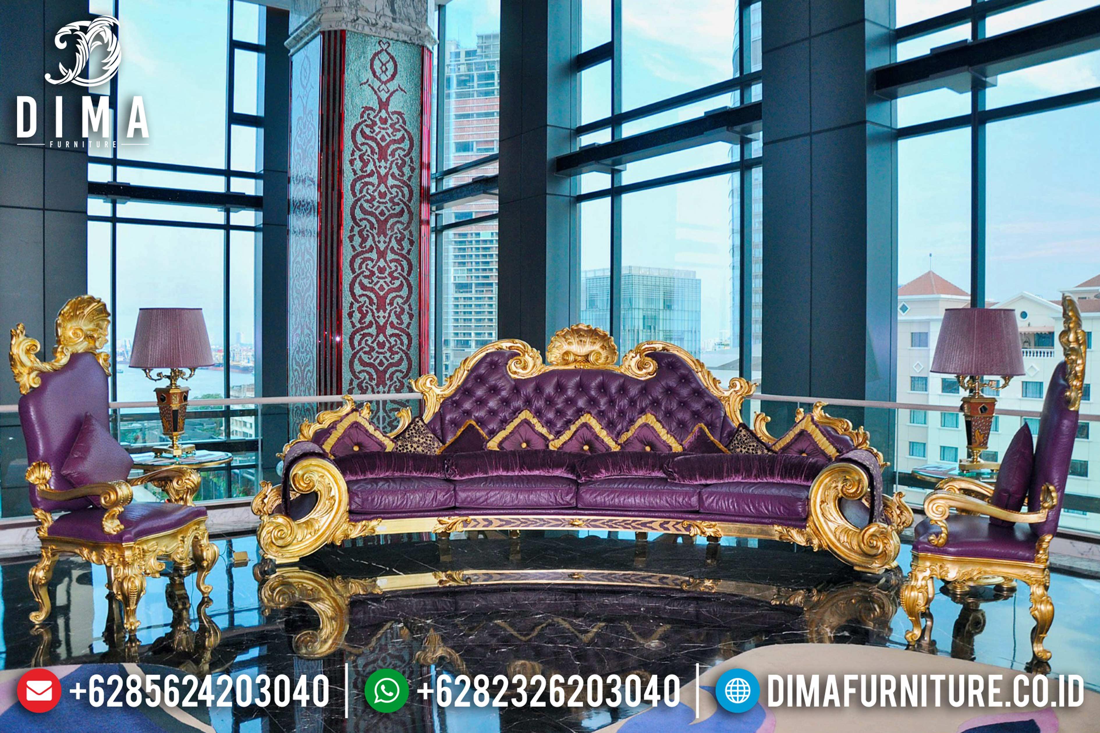 Jual Sofa Tamu Mewah Jepara Seri Jackson Ukiran Klasik Duco Emas DF-0833