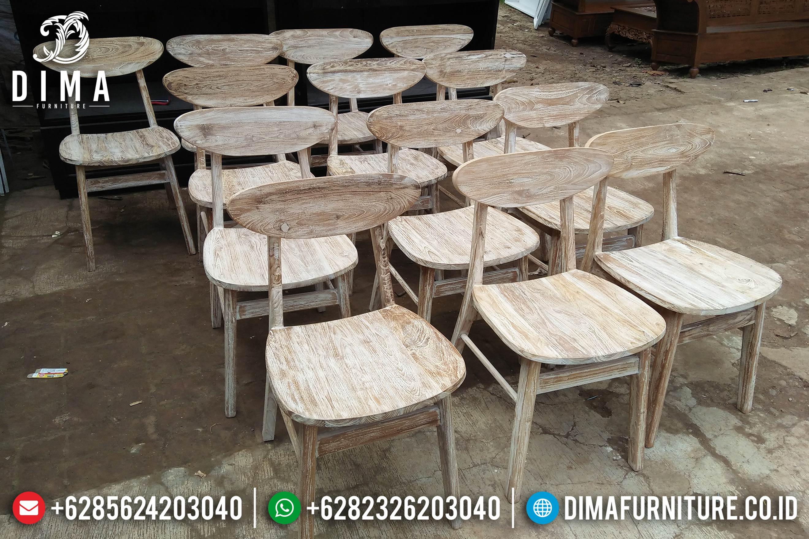 Kursi Cafe Jati Jepara, Kursi Cafe Minimalis, Kursi Restoran Hotel DF-0840