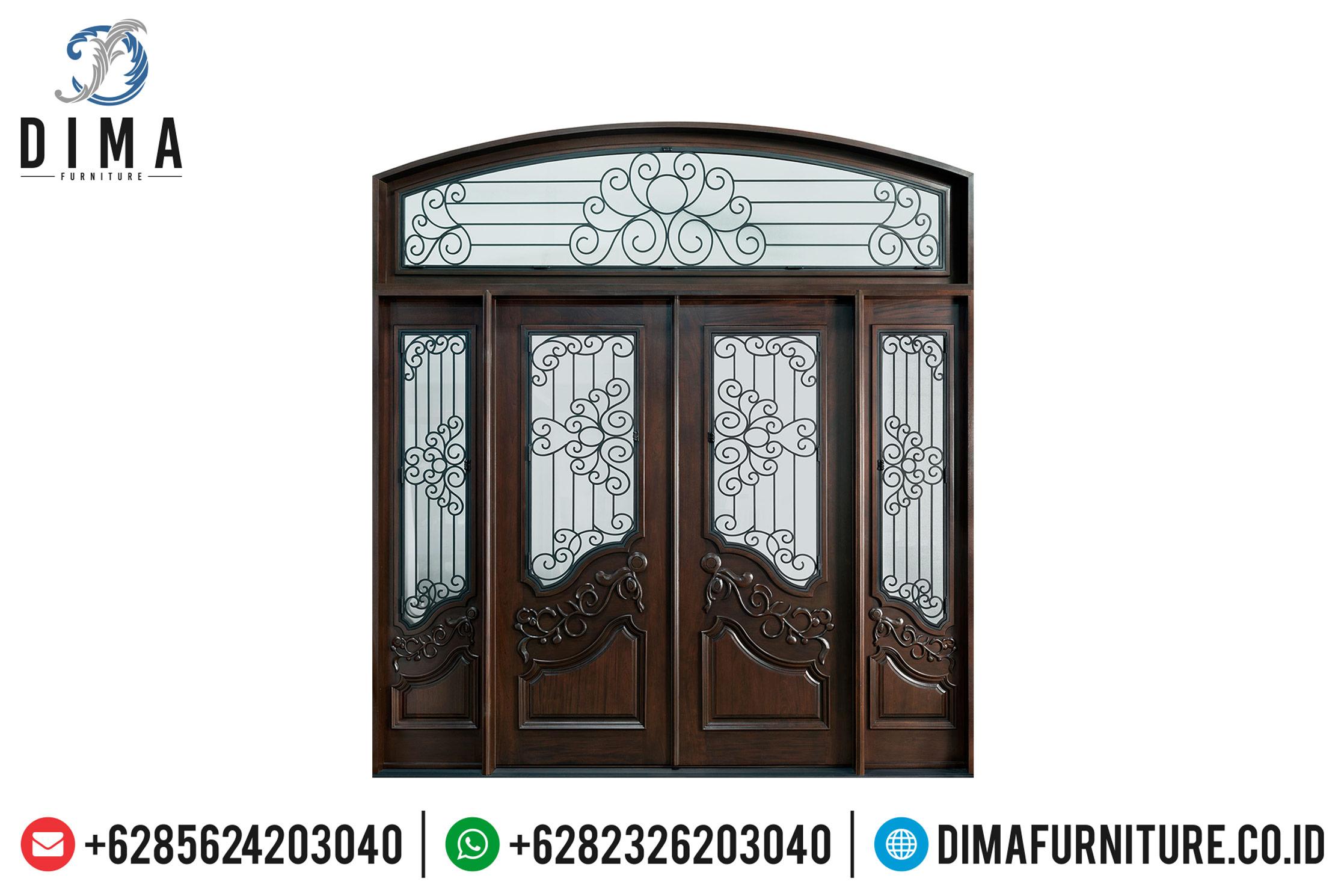 Model Mebel Jepara Terbaru Jual Pintu Rumah Mewah Jati Terbaru DF-0850