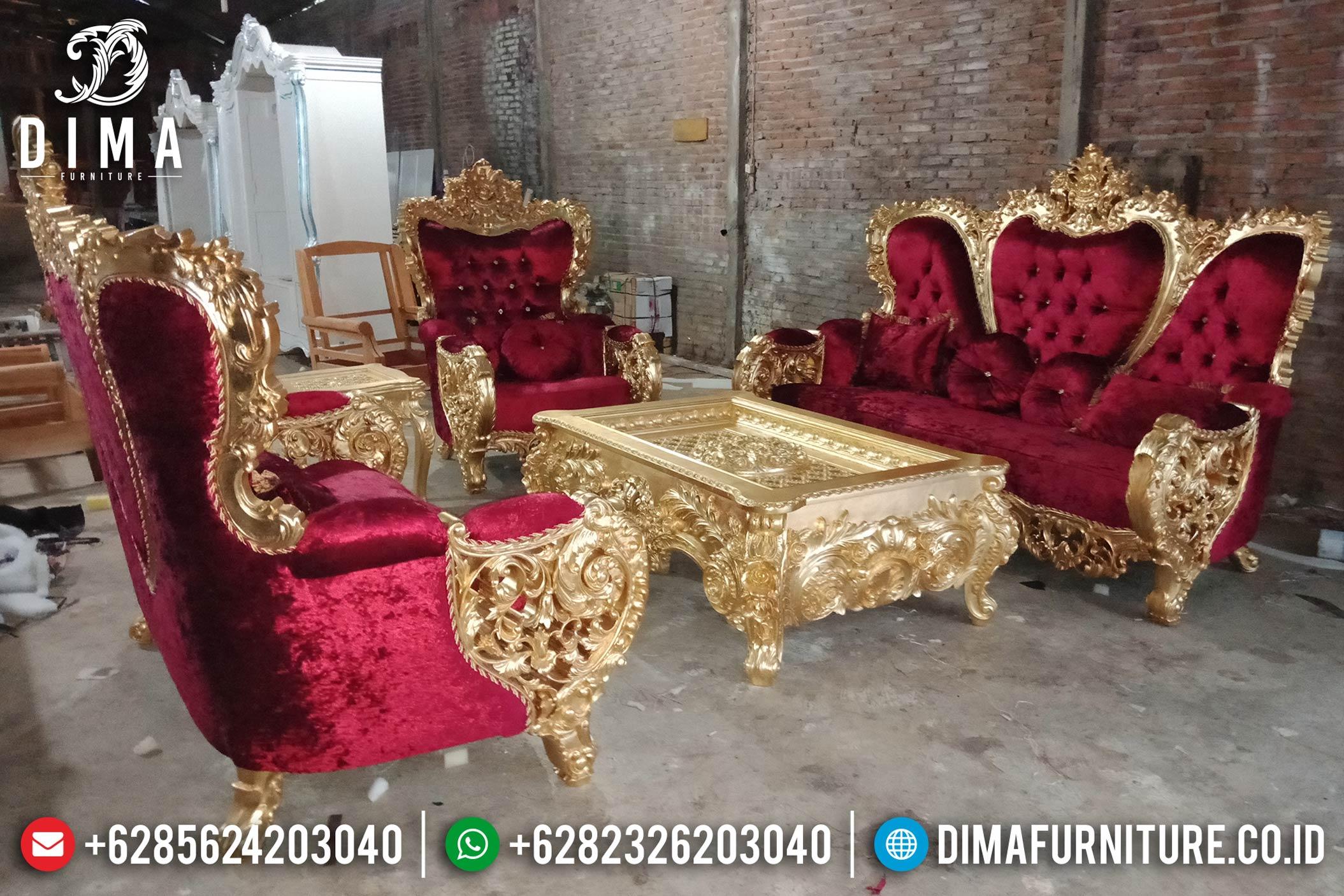 Model Set Kursi Sofa Tamu Mewah Jepara Seri Bellagio Gold Leaf Royal DF-0859 Gambar 1