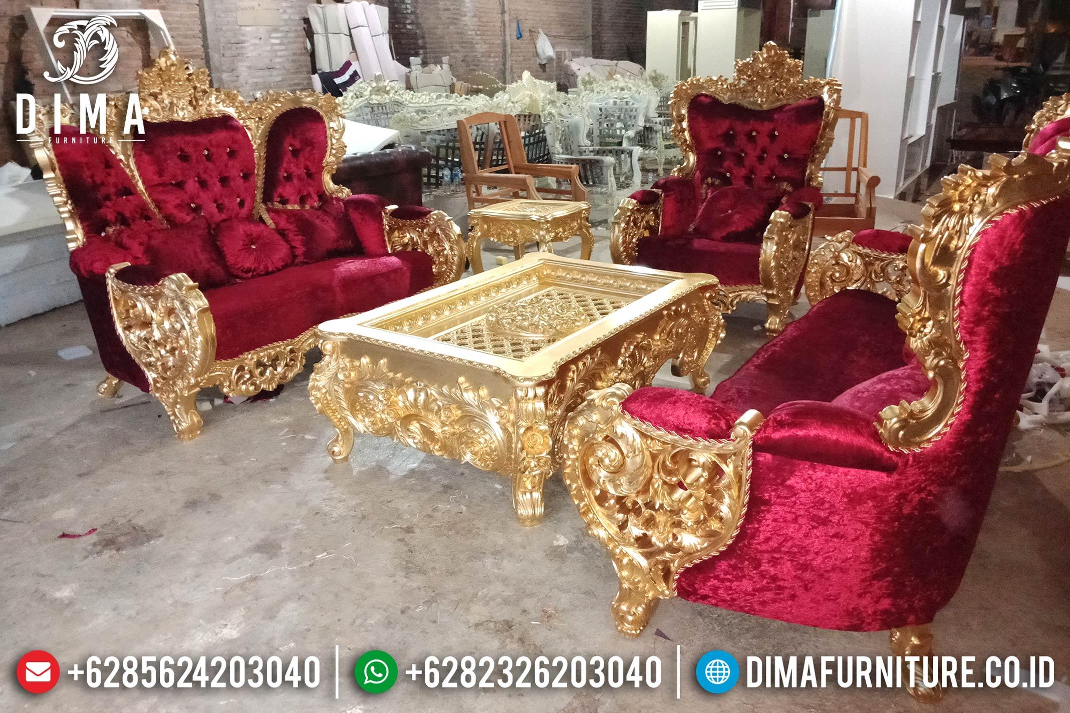 Model Set Kursi Sofa Tamu Mewah Jepara Seri Bellagio Gold Leaf Royal DF-0859 Gambar 2