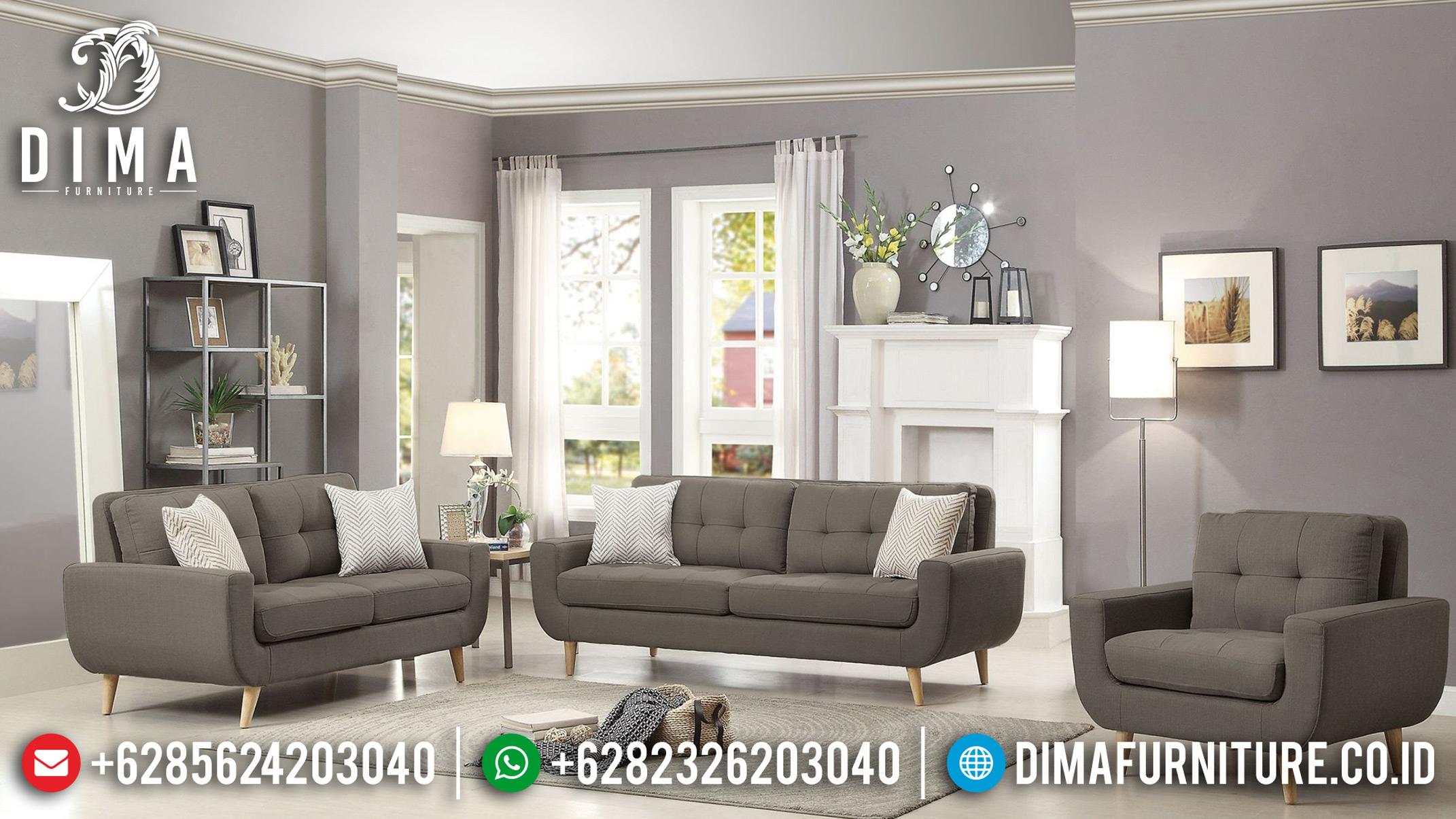 Model Terbaru Set Sofa Tamu Jepara Minimalis Mewah Loveseat Modern DF-0838 Gambar 1