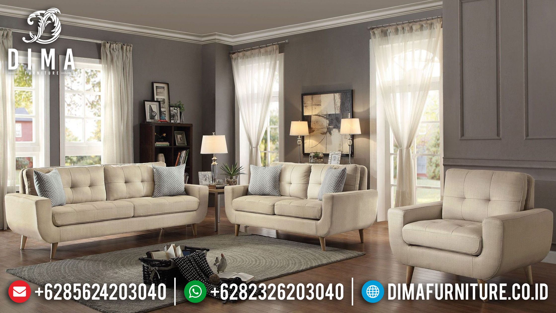 Model Terbaru Set Sofa Tamu Jepara Minimalis Mewah Loveseat Modern DF-0838 Gambar 2
