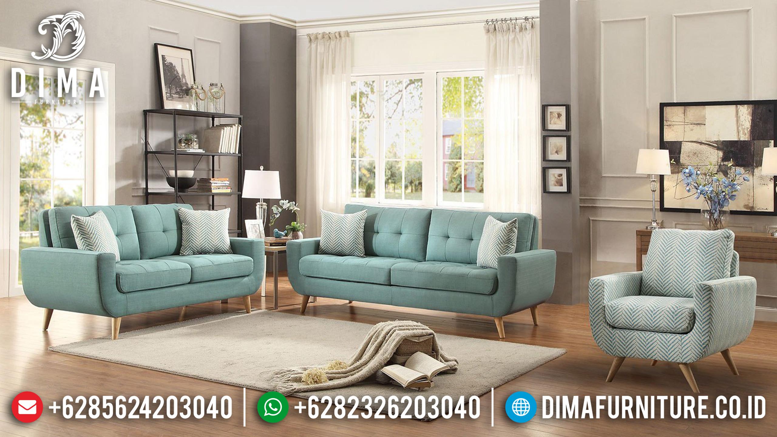 Model Terbaru Set Sofa Tamu Jepara Minimalis Mewah Loveseat Modern DF-0838