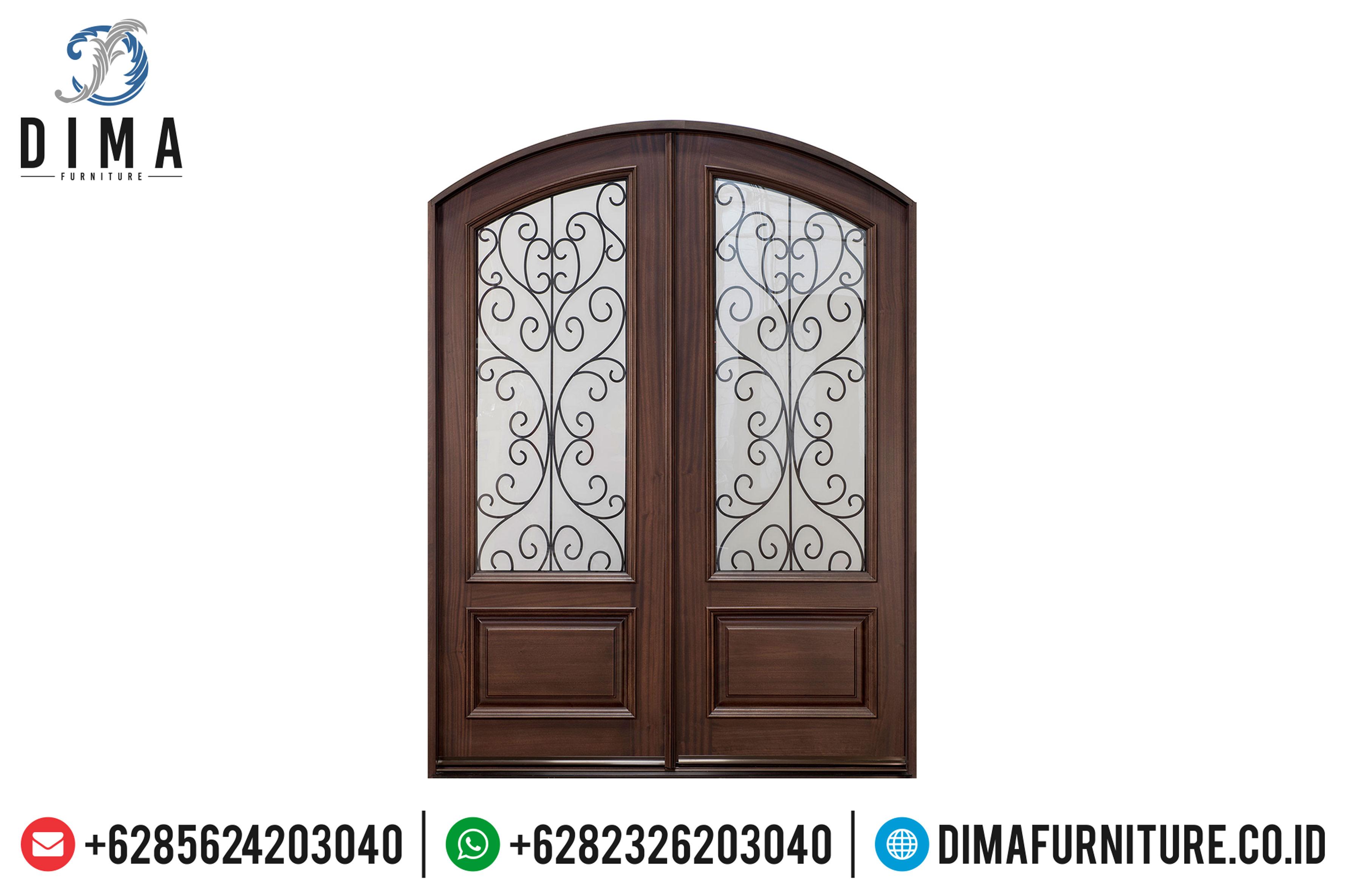 Pintu Rumah Jati Jepara, Pintu Rumah Mewah, Kusen Pintu Rumah Utama DF-0824