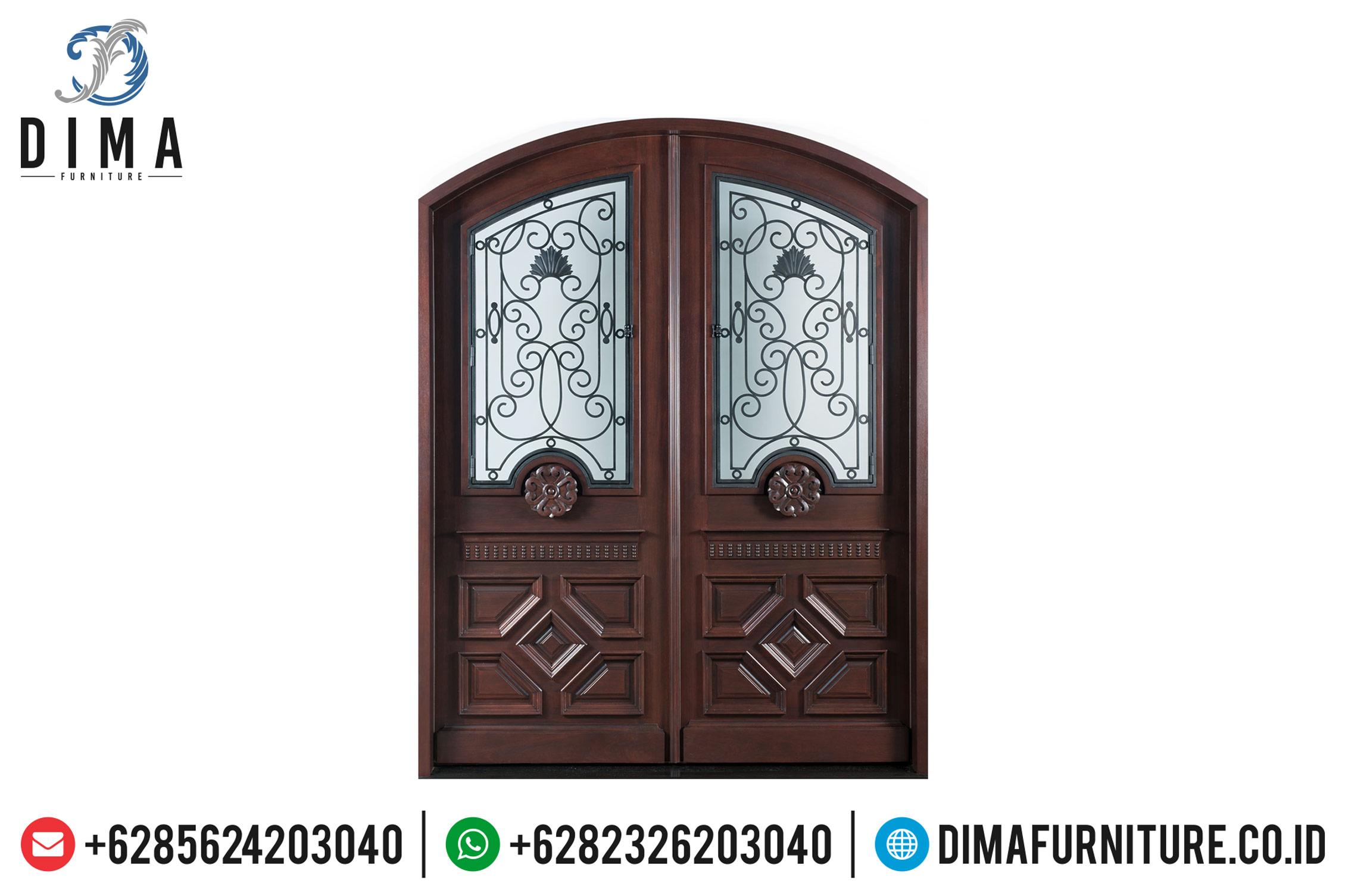 Pintu Rumah Mewah Jati, Pintu Jati Jepara, Mebel Jati Jepara Terbaru DF-0819