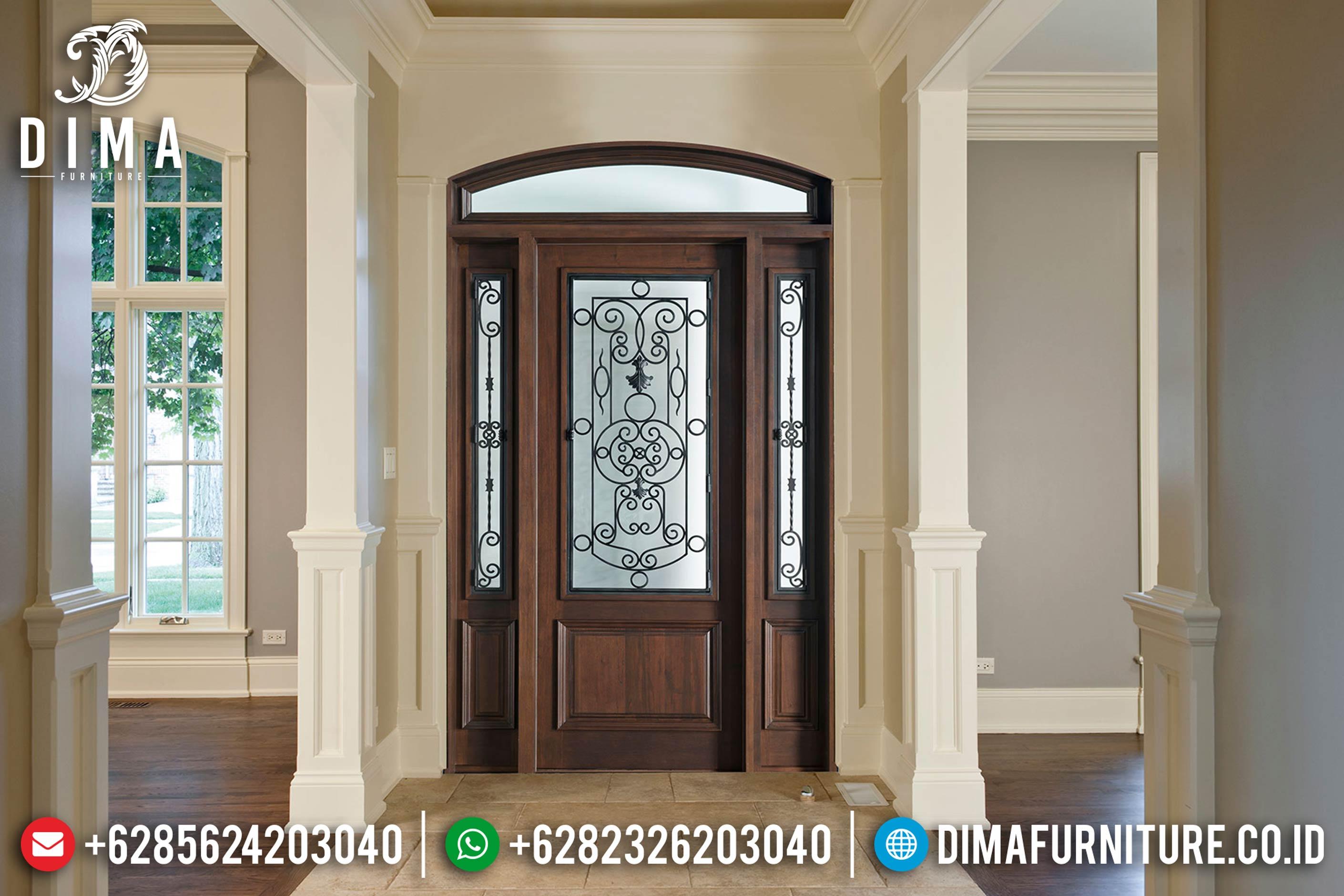 Pintu Rumah Mewah Jepara, Kusen Pintu Murah, Pintu Rumah Jati DF-0821