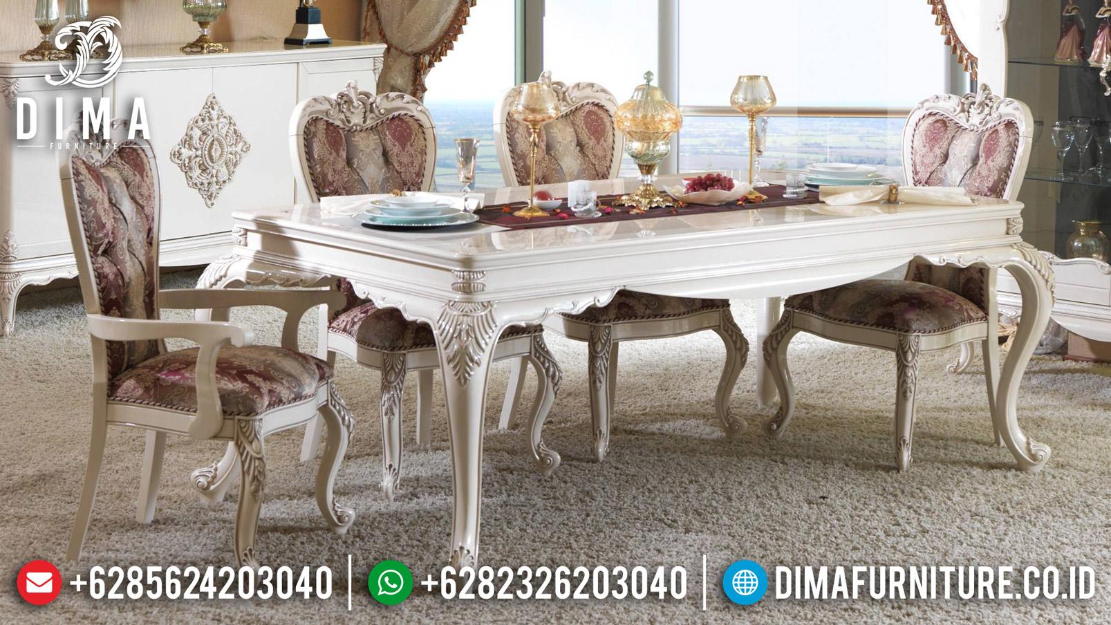 Beli Meja Makan Jepara Mewah Minimalis Ukir Koltuk DF-0901