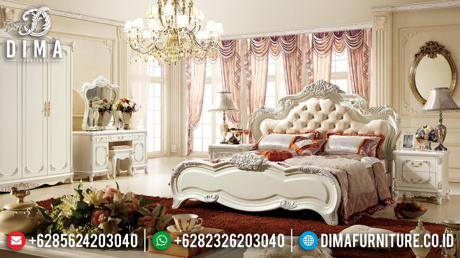 Dipan Tempat Tidur Jepara Duco Ivory Mewah DF-0908