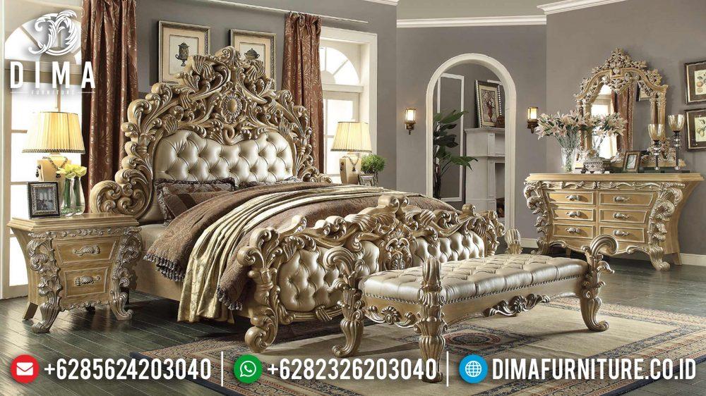 Dipan Ukiran Klasik Jepara, Tempat Tidur Jepara Mewah, Kamar Set Mewah Jepara DF-0881