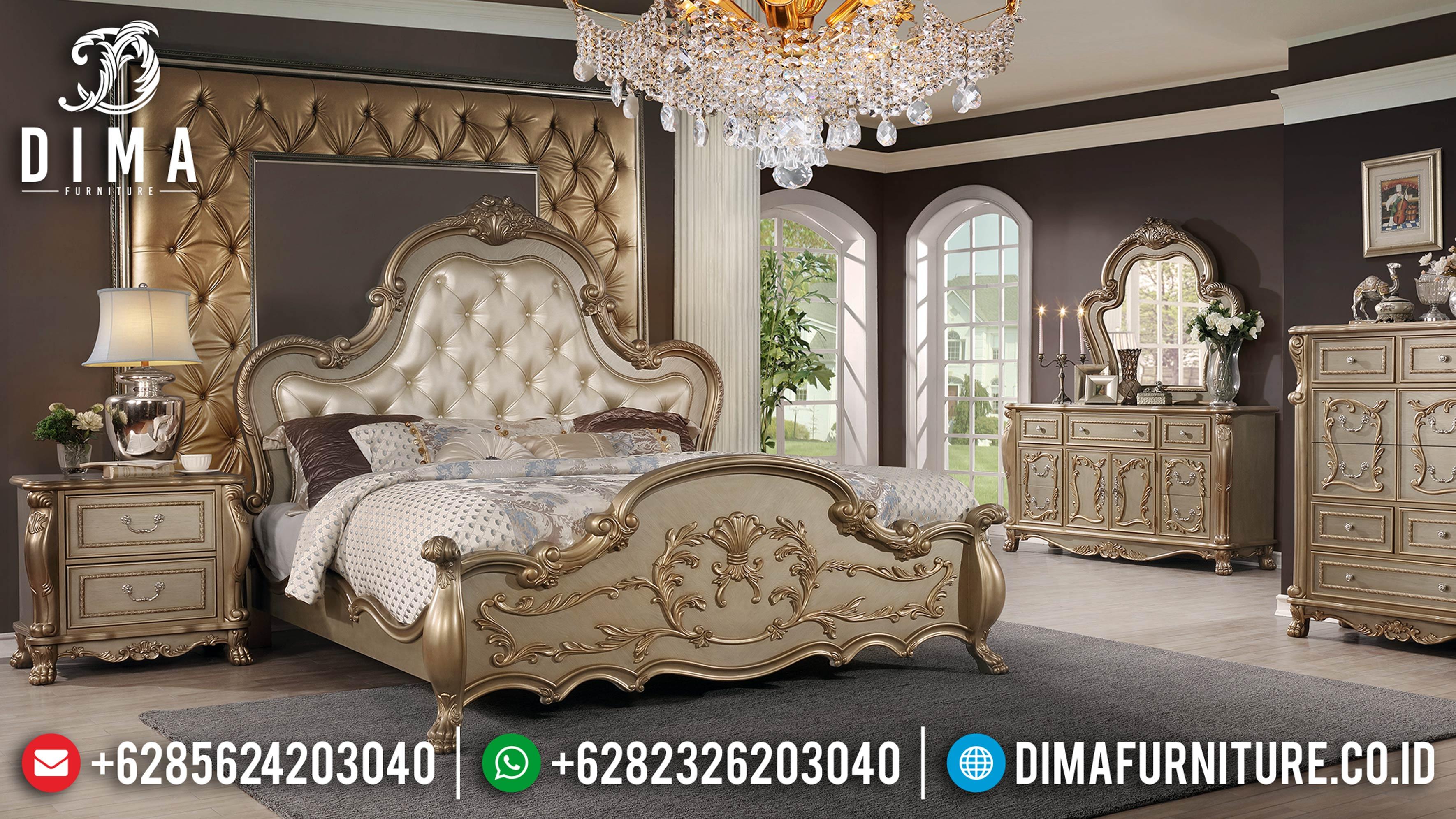 Harga Tempat Tidur Jepara Mewah Gold Duco Giovano DF-0906
