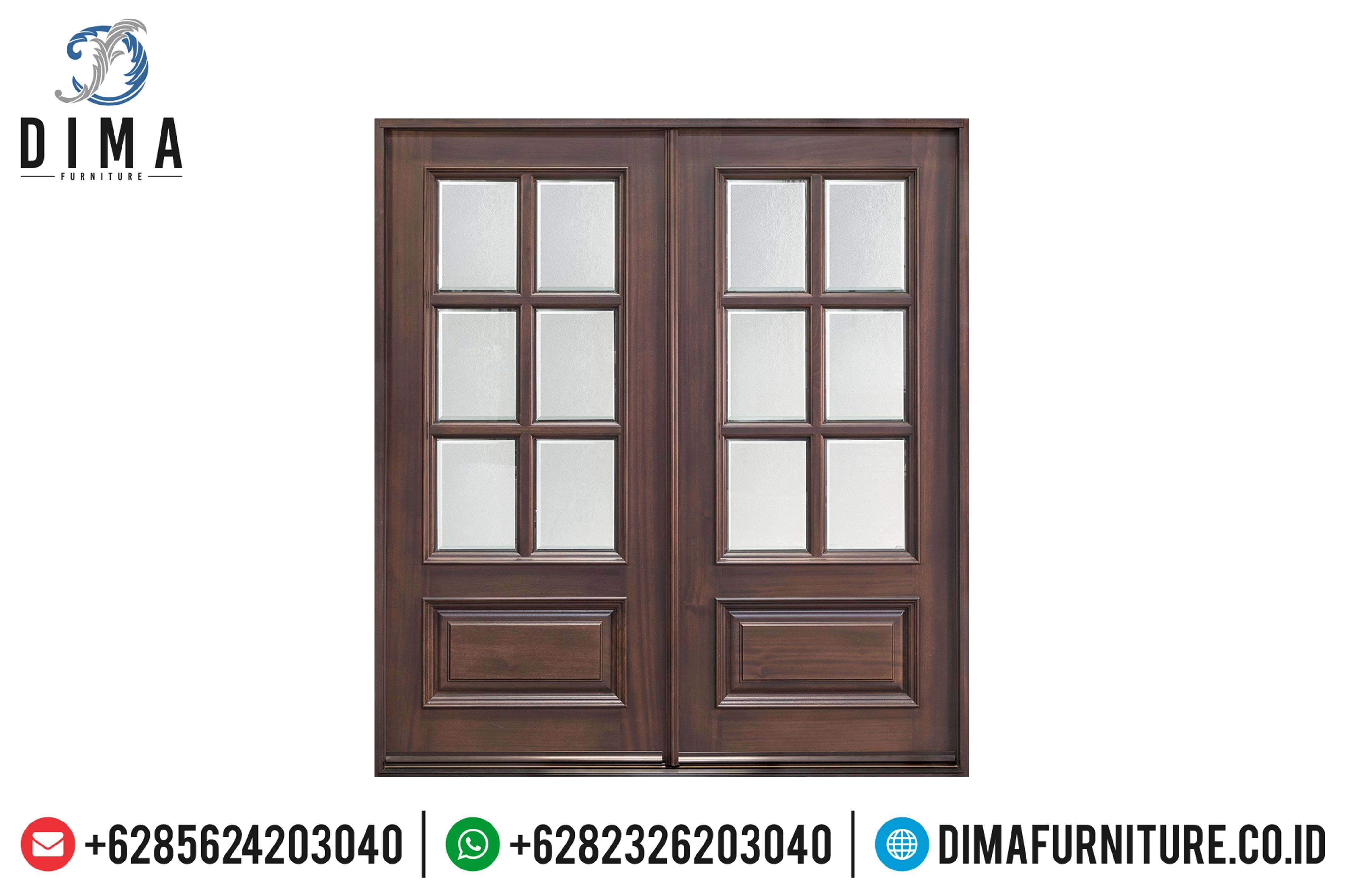 Jual Pintu Rumah Jati, Pintu Jati Jepara Mewah, Kusen Pintu Rumah DF-0887