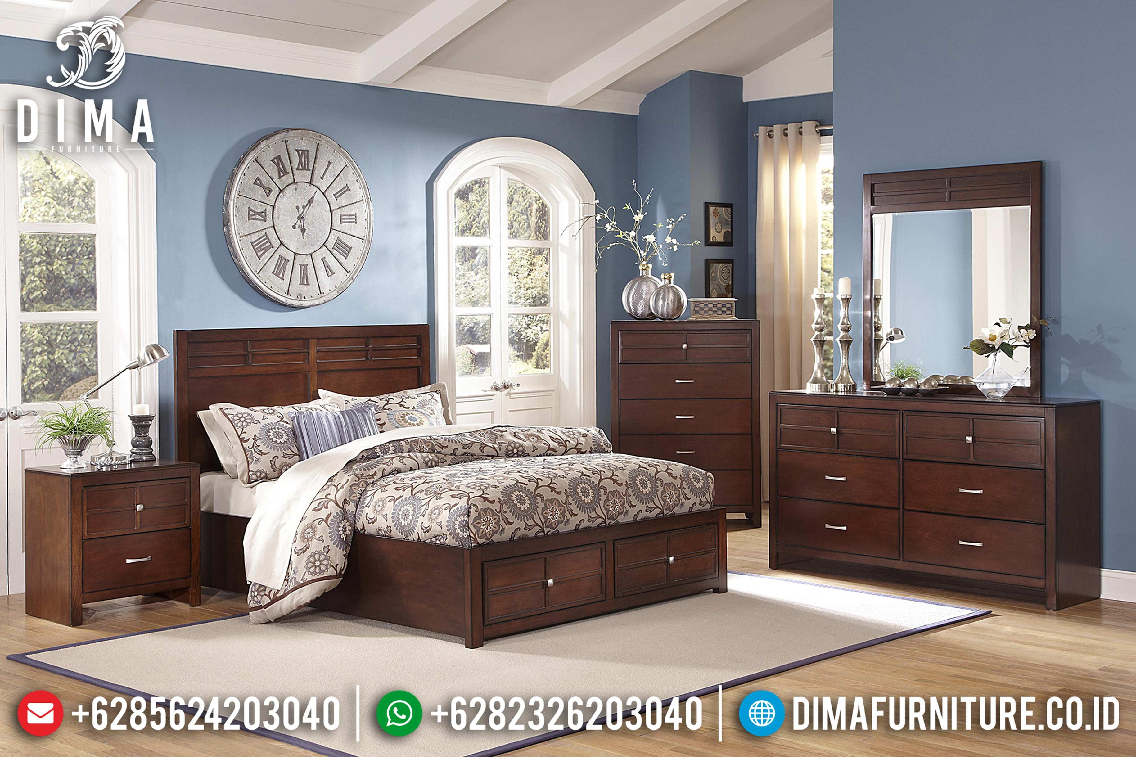 Jual Set Tempat Tidur Jepara Minimalis Jati DF-0894