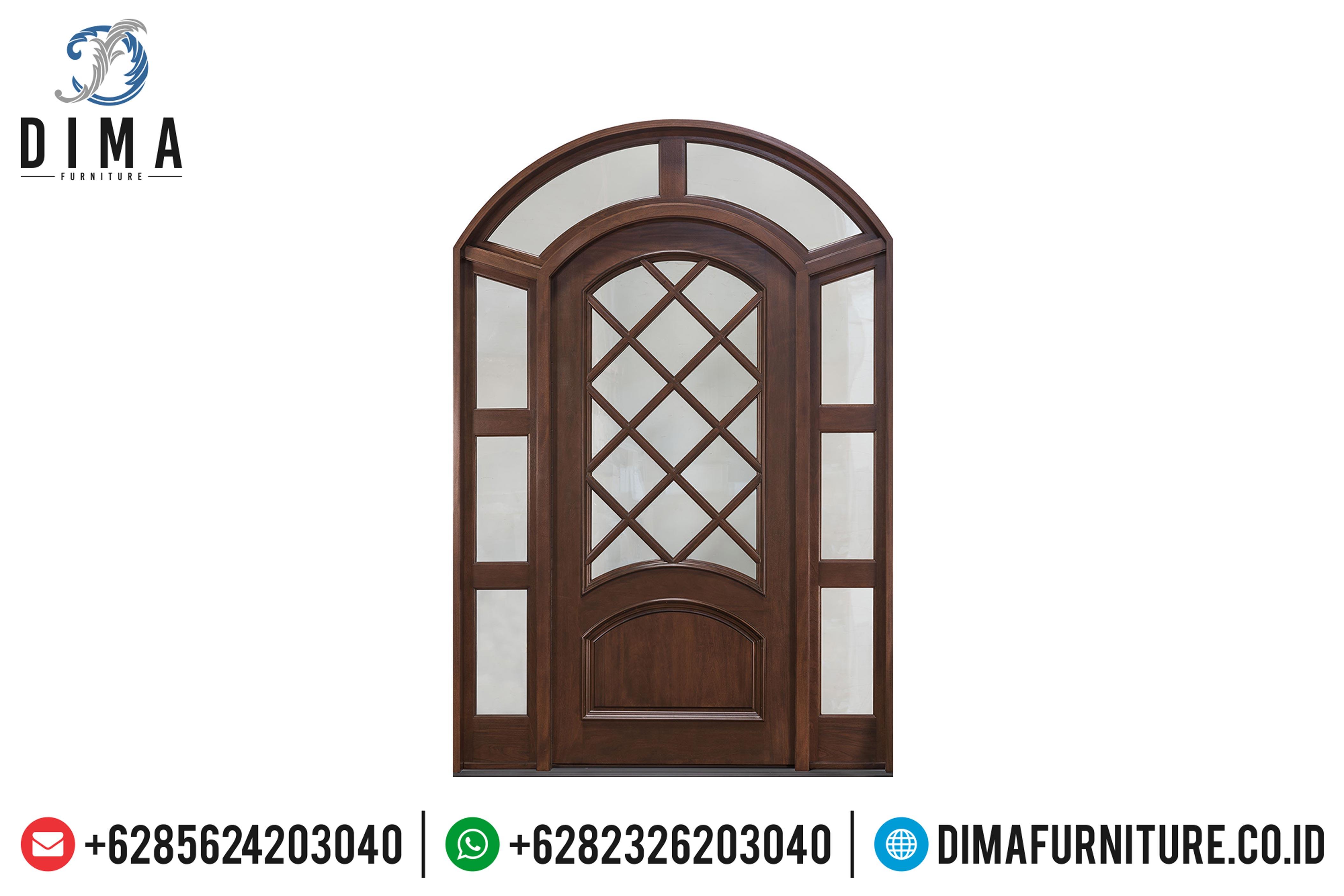 Model Kusen Pintu Rumah Jati Jepara Model Minimalis Mewah DF-0888
