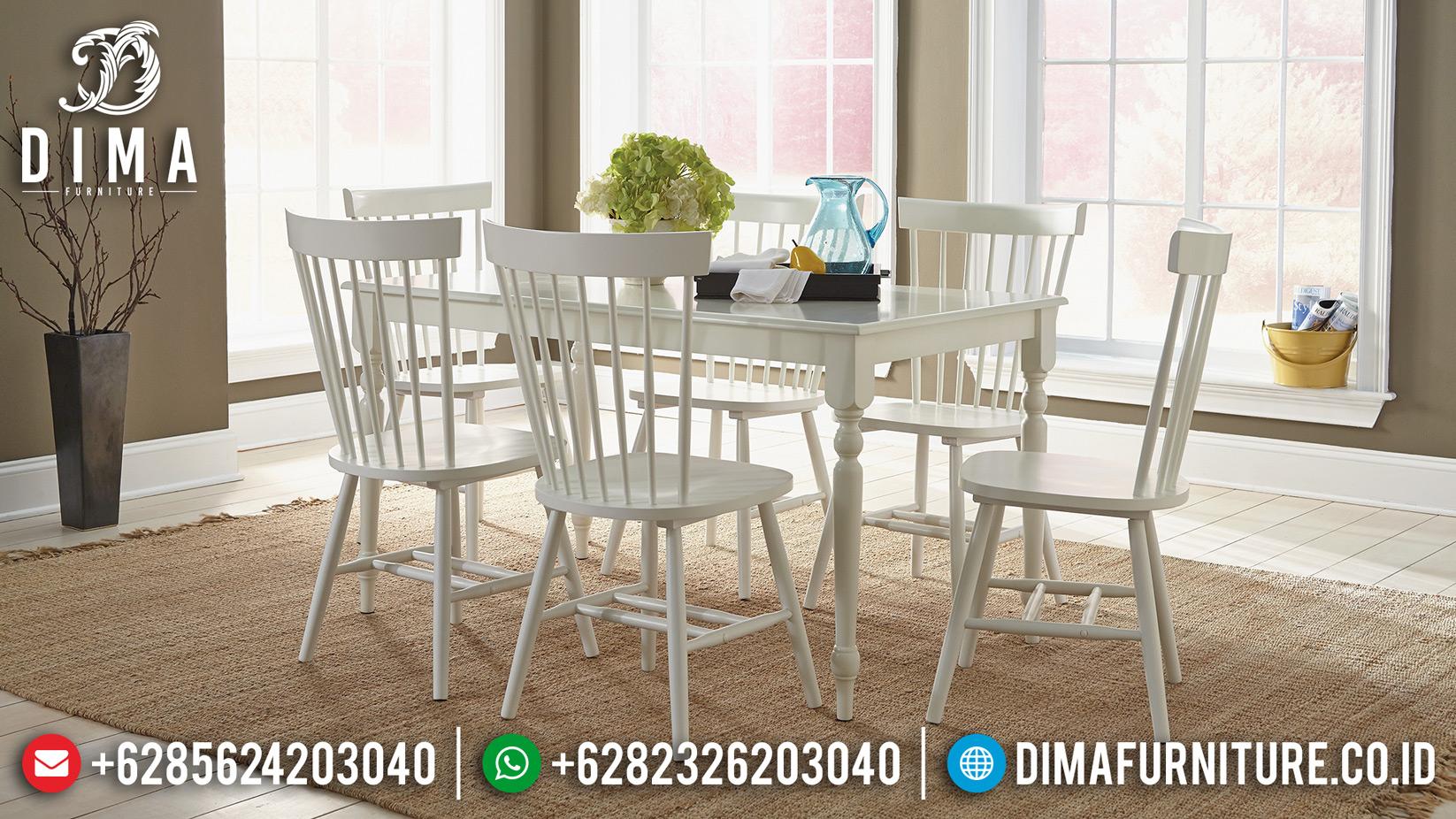 Model Meja Makan Jepara Minimalis Cafe Jati DF-0898 Gambar 1