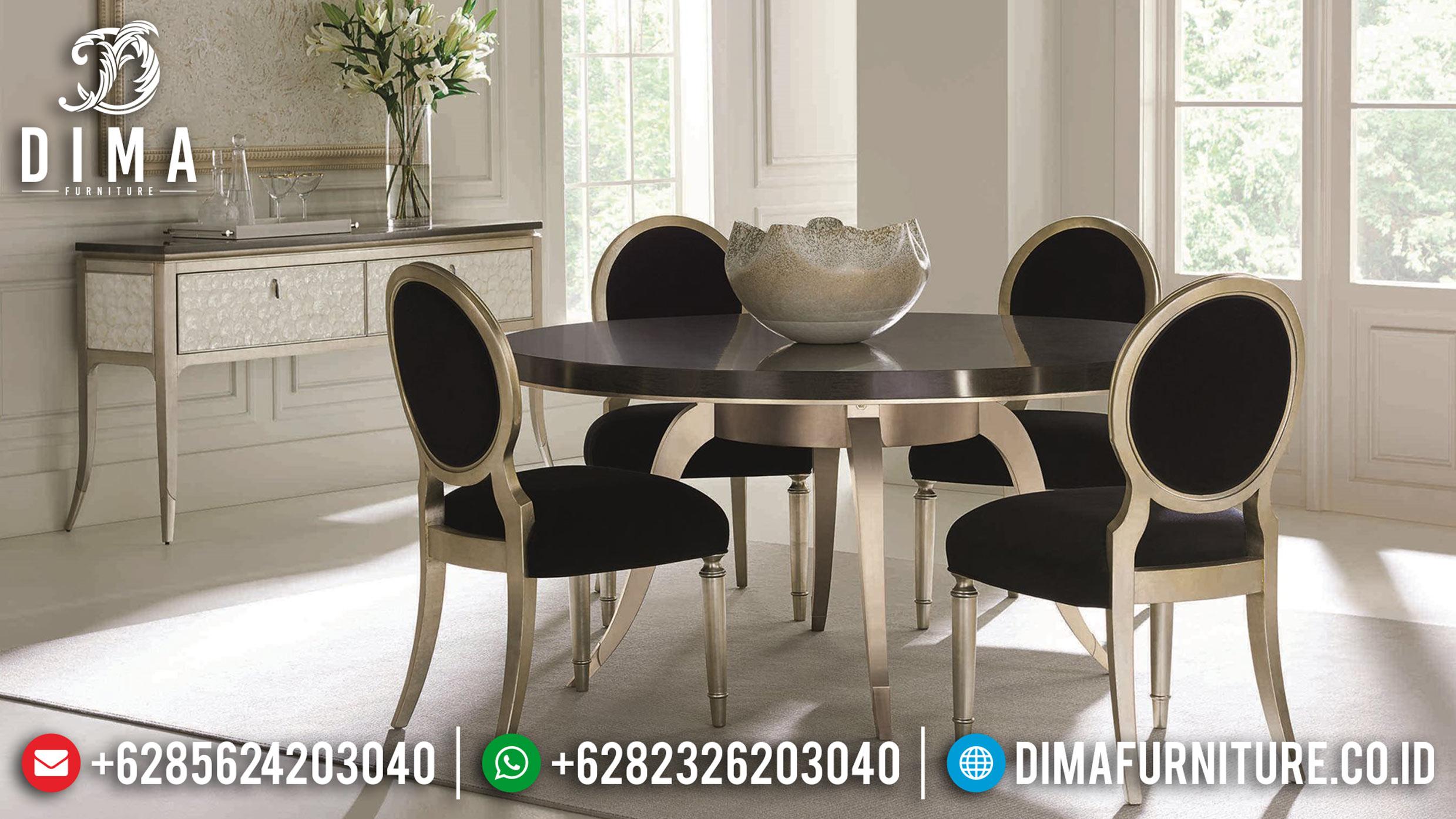 Model Meja Makan Jepara Minimalis Mewah Terbaru Modern Champage DF-0883