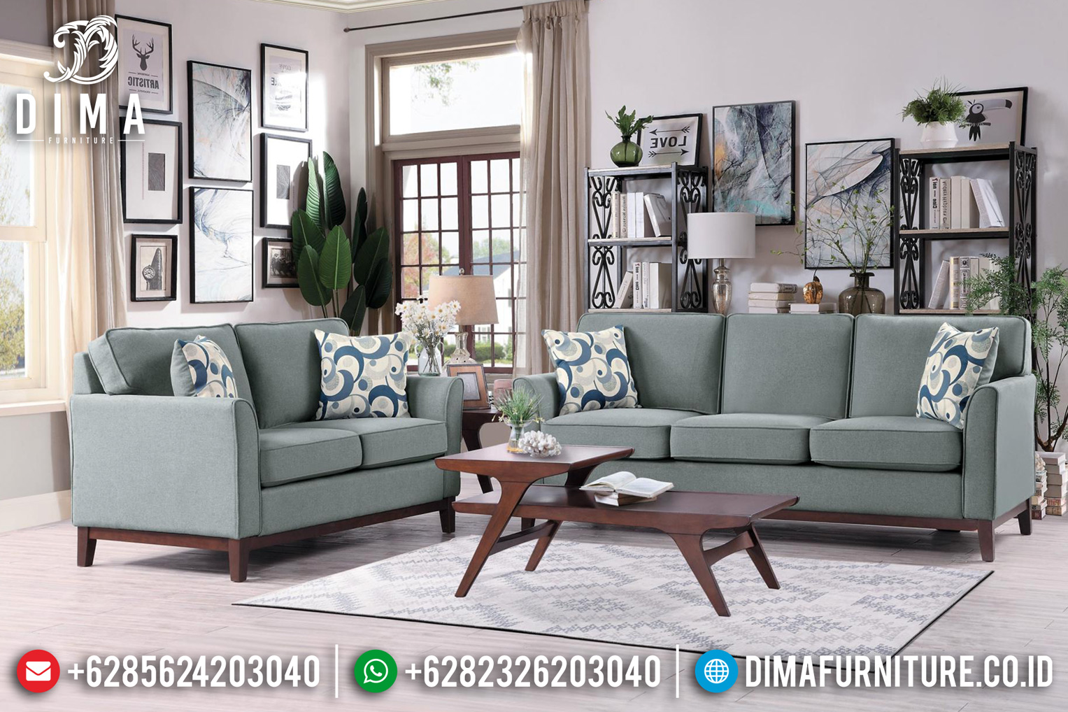 Model Sofa Tamu Jepara Natural Mewah DF-0923