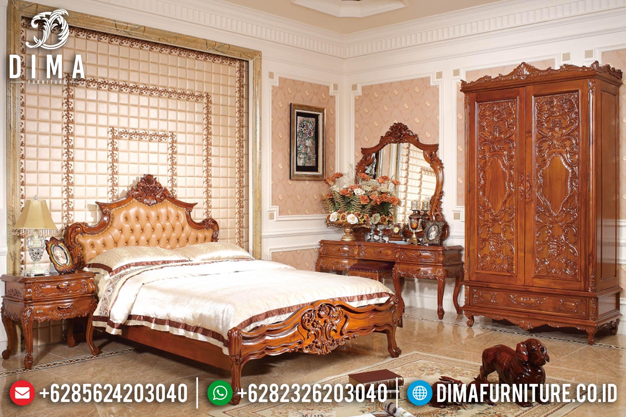 Tempat Tidur Jepara Mewah Ukiran Jati Klasik DF-0896