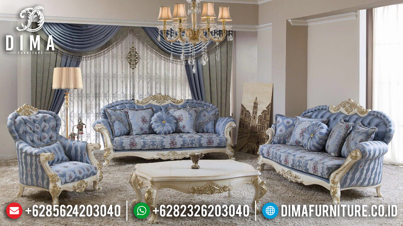 Formasi Set 3 2 1 Sofa Tamu Jepara Mewah Duco Ivory Gold DF-0979