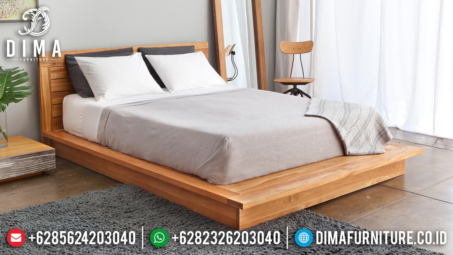 Jual Tempat Tidur Jati Jepara Minimalis Terbaru DF-0974