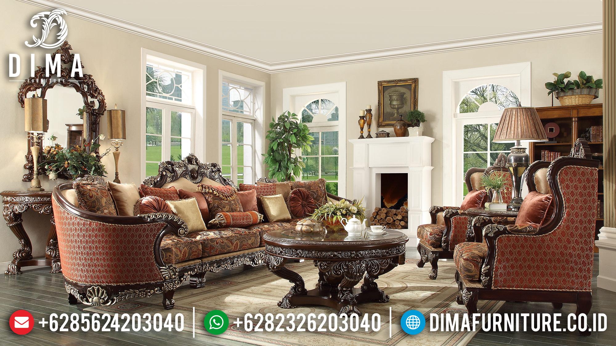 Klasik Furniture Set Sofa Tamu Jepara Mewah Ukir Jati DF-0965