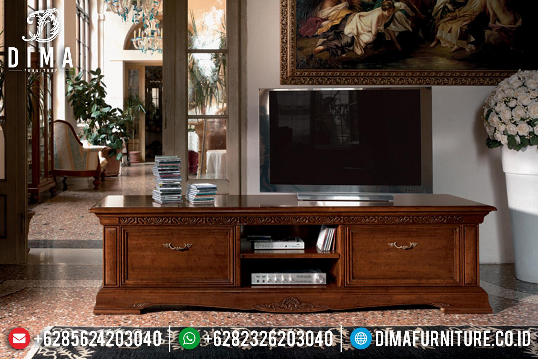 Model Bufet TV Jepara Ukiran Jati Terbaru 2019 DF-0947