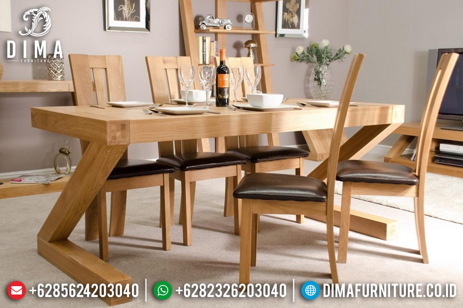 Set 6 Kursi Meja Makan Minimalis Jepara Jati Terbaru DF-0956
