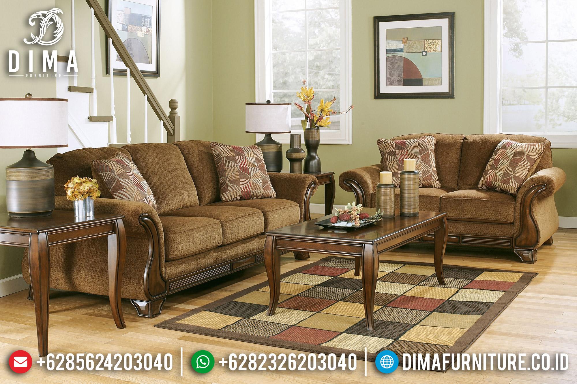 Set Sofa Tamu Jepara Minimalis Mewah Solid Kayu Jati DF-0961