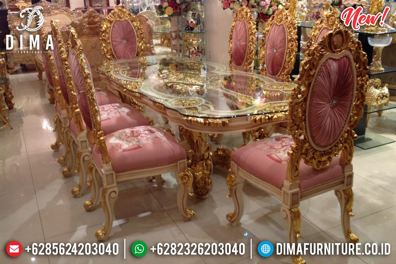 Exclusive Furniture Set Meja Makan Jepara Ukiran Mewah Gold DF-1002