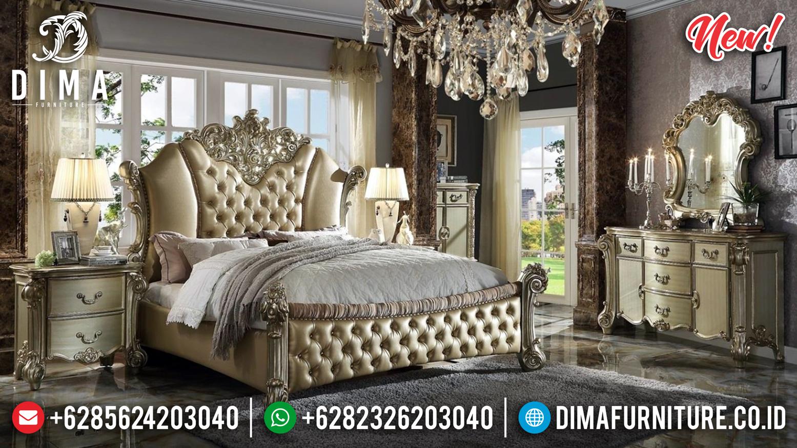 Jual 1 Set Tempat Tidur Jepara Mewah Vendom Rose Gold DF-1010