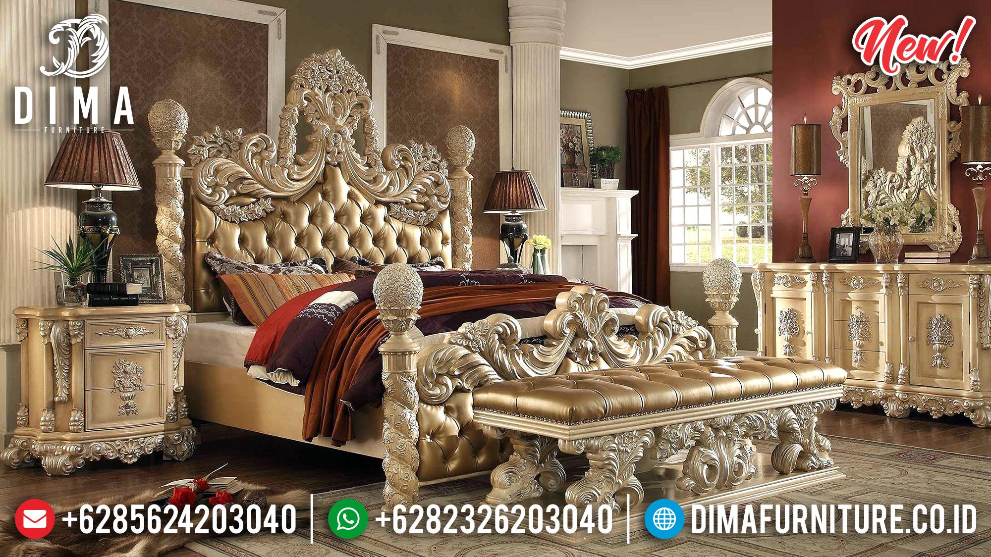 Jual Tempat Tidur Mewah Golden Carving DF-1022