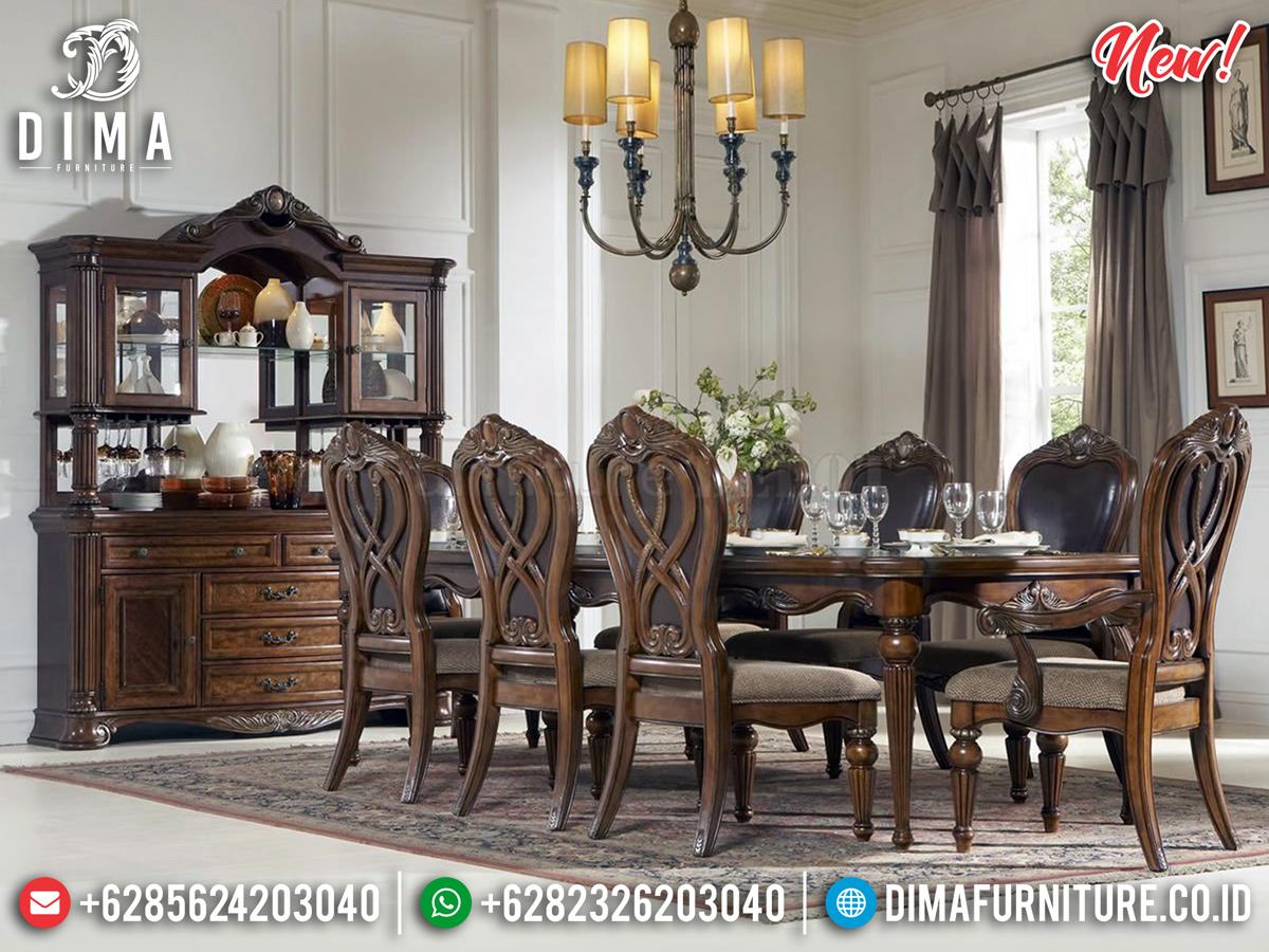 Desain Antik Meja Makan Mewah Classy Luxury DF-1038