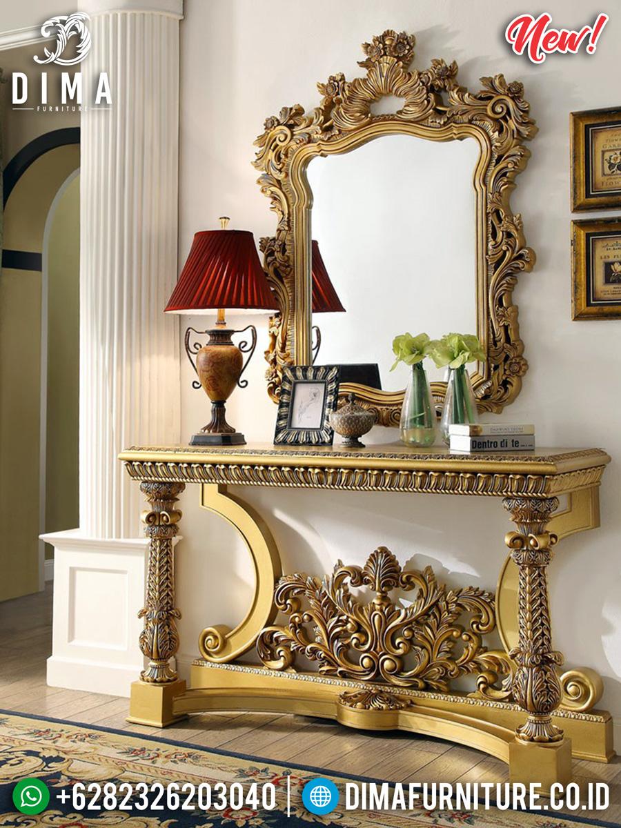 Desain Klasik Meja Konsol Mewah Golden Sunrise DF-1069