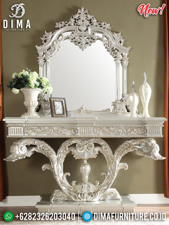 Desain Luxury Meja Konsol Mewah Jepara Silver Duco Classic DF-1125