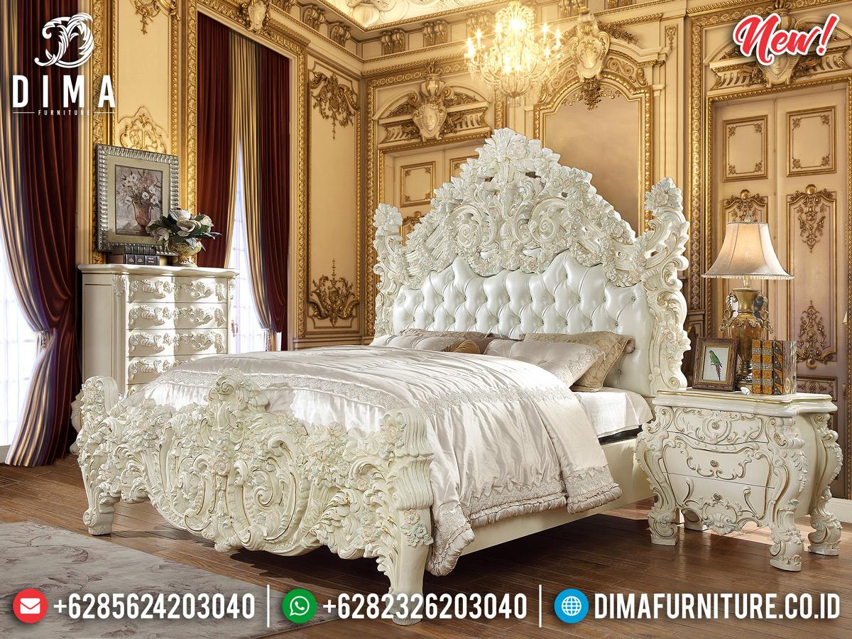 Luxury Classic Kamar Set Mewah Full Ukiran Jepara White Duco DF-1112