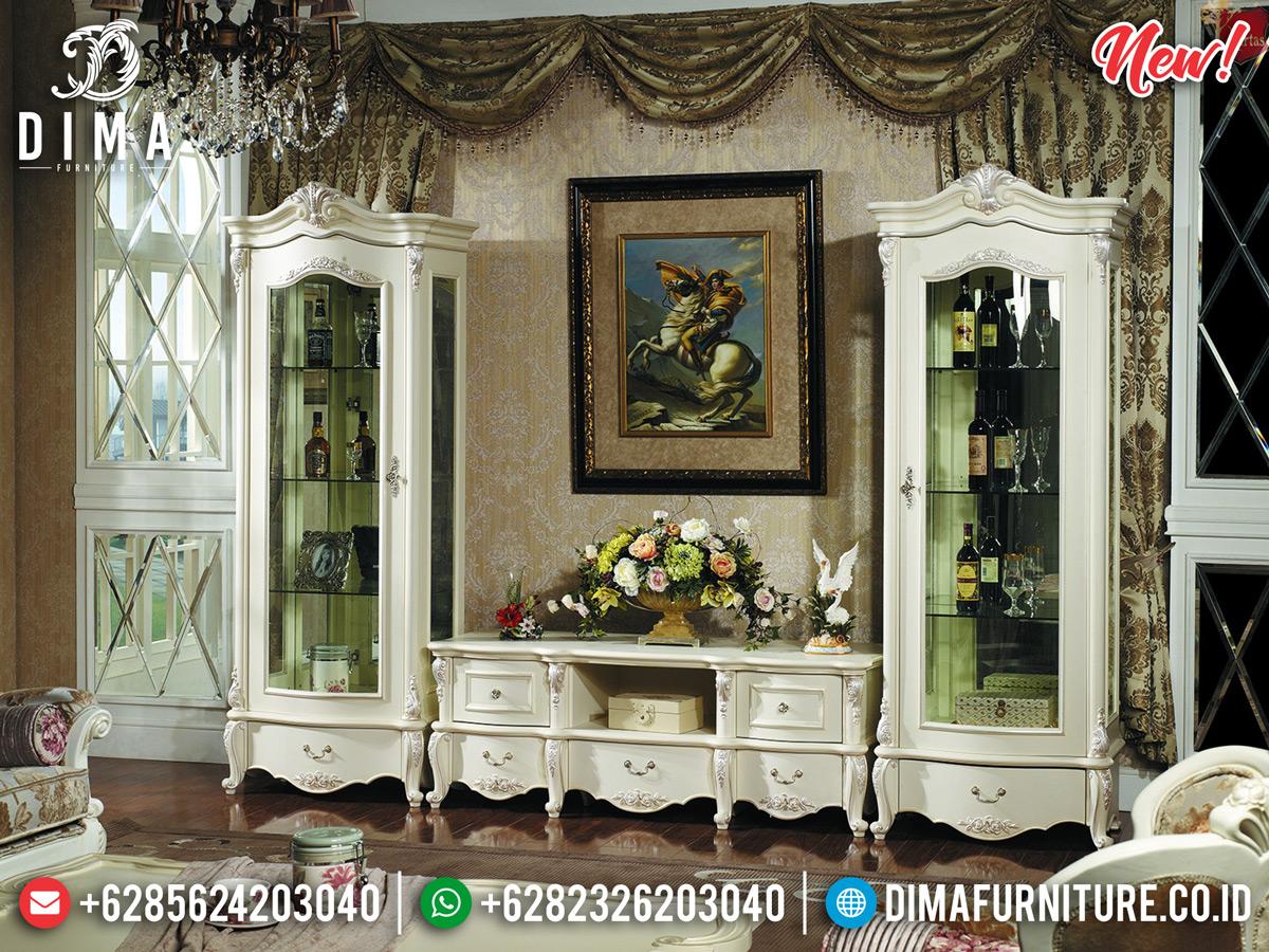 Meja TV Lemari Hias Mewah Duco Glossy Painting DF-1117