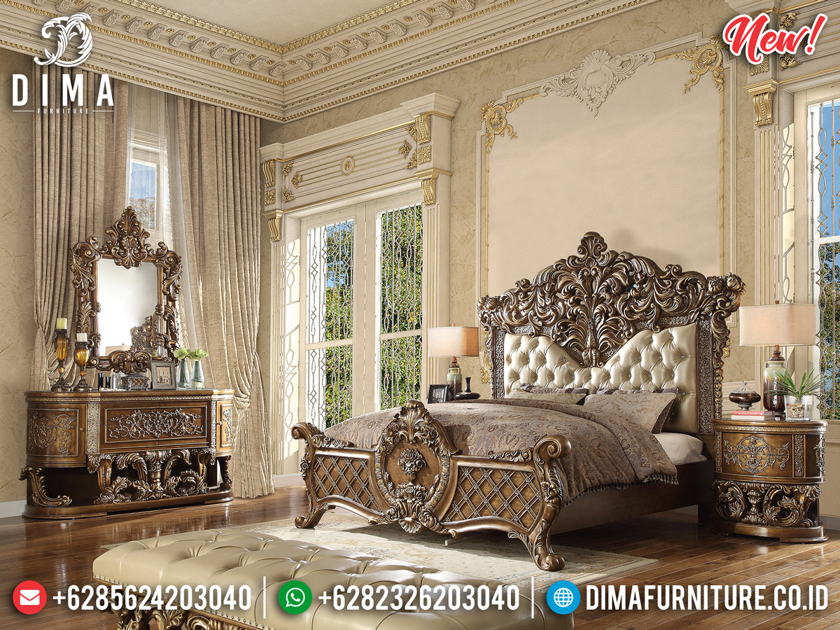 New Model Kamar Set Mewah Ukiran Luxury Classic Jepara DF-1111