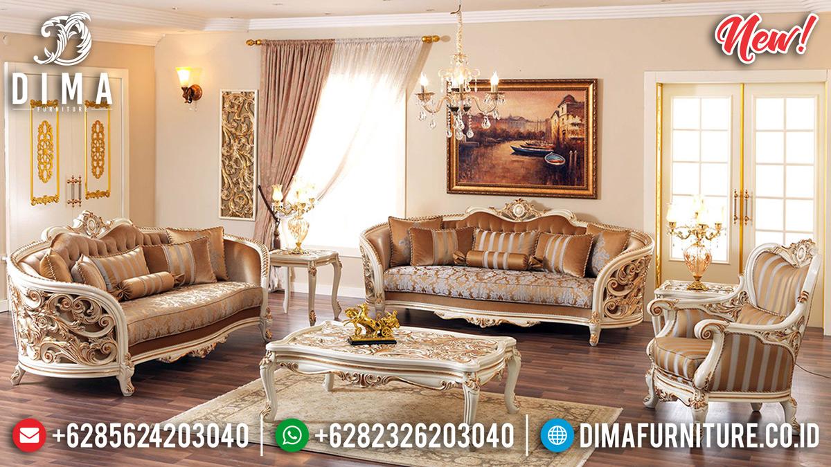 Set Sofa Tamu Mewah Jepara Desain Ukiran Klasik Elegan DF-1103