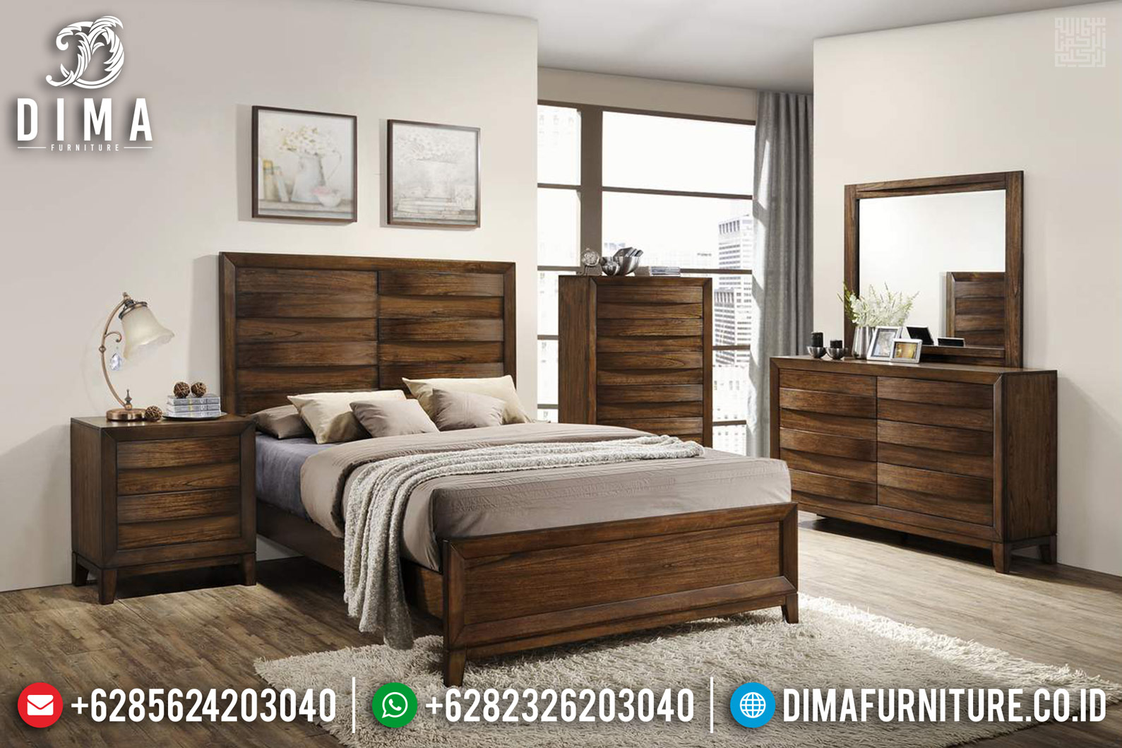 Dipan Minimalis Modern, Tempat Tidur Jati Jepara, Kamar Set Minimalis DF-1162