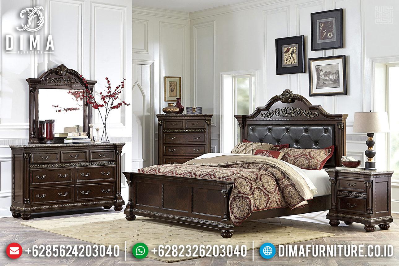 New Models Set Tempat Tidur Jati Jepara Ukir 2020 DF-1161