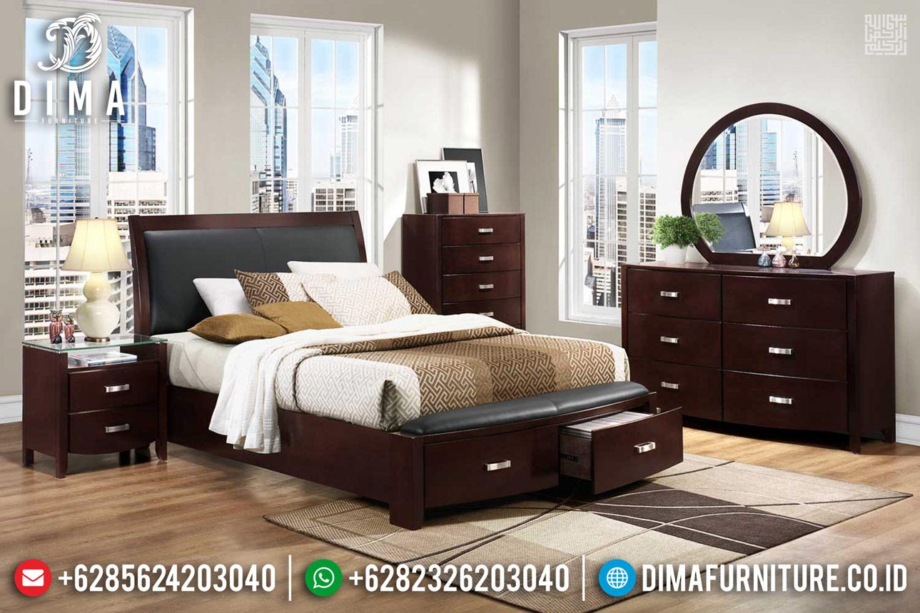 Set 2020 Dipan Tempat Tidur Jati Minimalis Jepara Salak Brown DF-1155