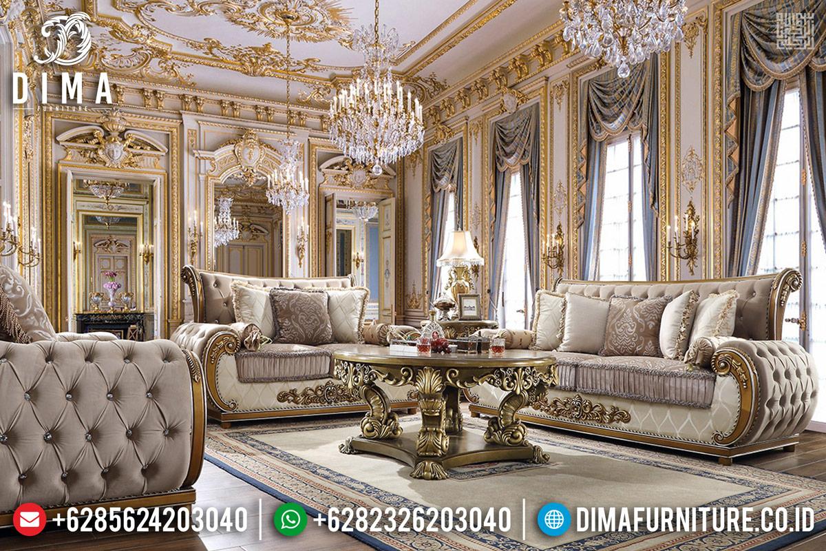 Set Sofa Tamu Mewah Golden Classy Ukiran Jepara DF-1128