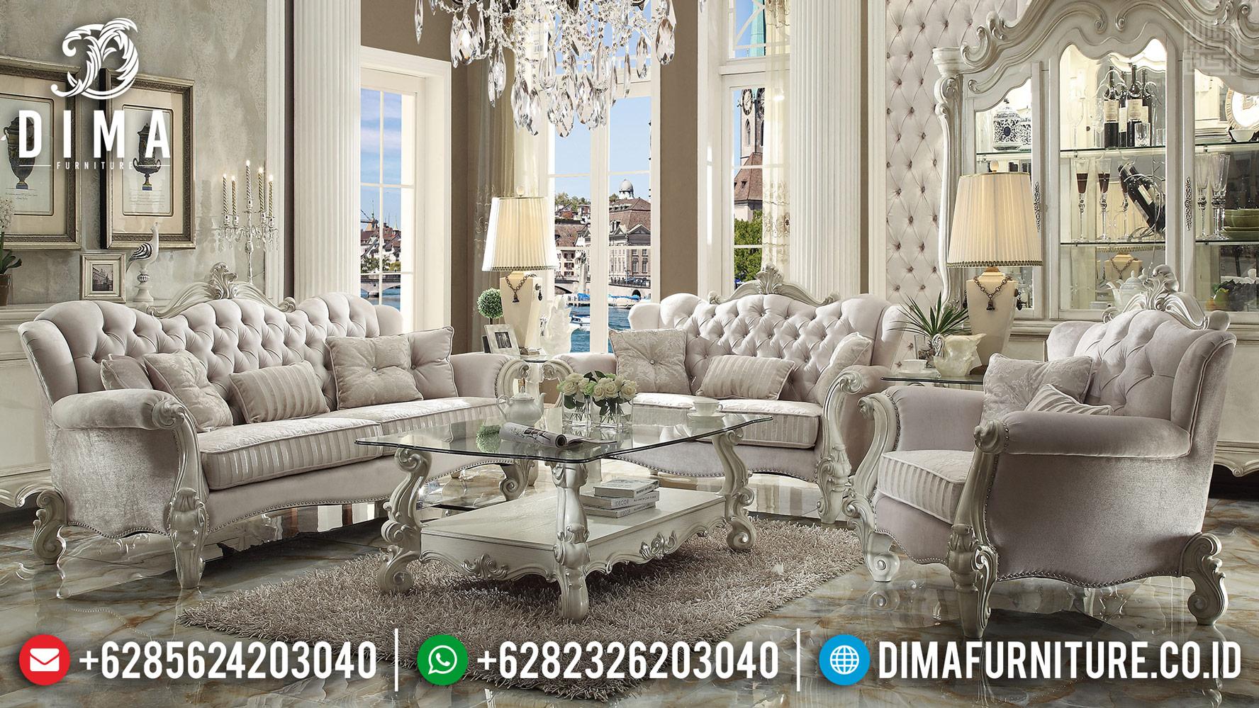 Broken White Sofa Tamu Mewah New Design Furniture Jepara DF-1188