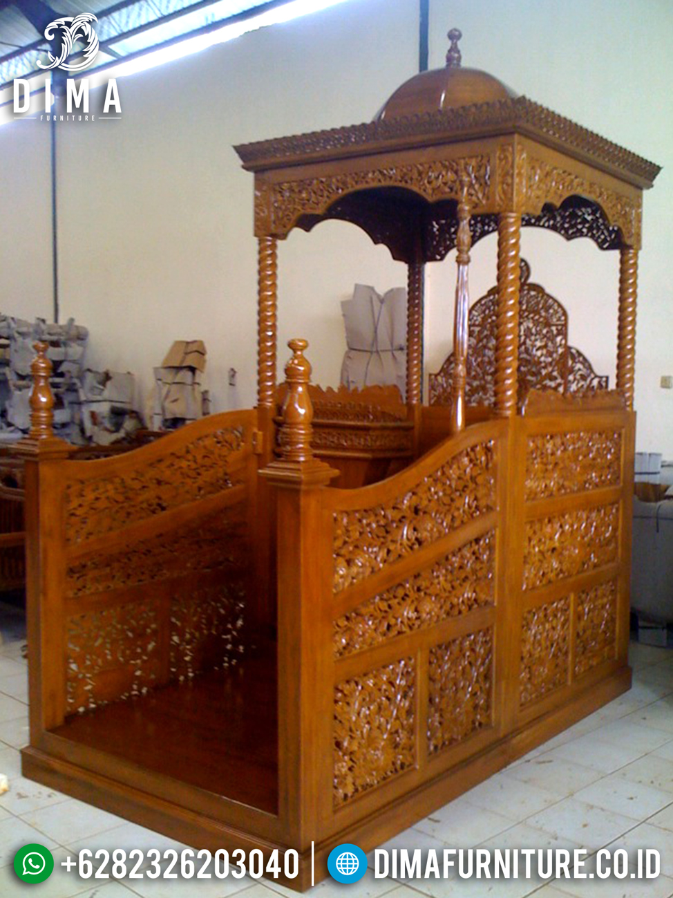 Furniture Jepara Mimbar Masjid Jati Natural Murah DF-1211